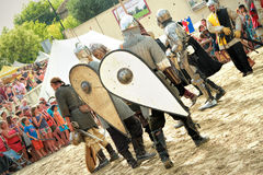 Knights fighting Royalty Free Stock Photos