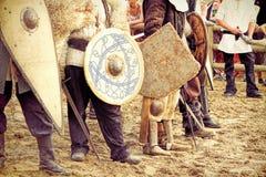 Knights fighting Stock Photos