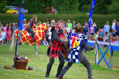 Knights foot combat England Royalty Free Stock Images