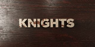 Knights - grungy wooden headline on Maple  - 3D rendered royalty free stock image Stock Photography