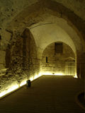 The Knights Hall. Akko, Acre stock photos