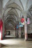 Knights hall. In Corvin Castle (Corvinesti or Hunyadi Castle), Hunedoara, Romania Royalty Free Stock Image