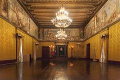 The knights hall. Wonderful knights hall in the big palace, Valletta, Malta Stock Photo