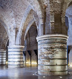 Knights' Halls at old city of acre Royalty Free Stock Image