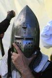Knights helmet Royalty Free Stock Photo