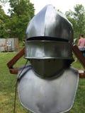 Knights helmet. Medieval knight helmet Stock Image