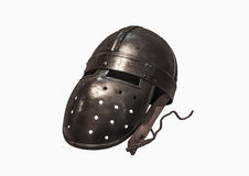 Knights helmet on the white backgrounds Stock Images