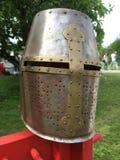 Knights helmet. Steel helmet of knight Stock Images