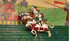 Knights on horse game Stock Image
