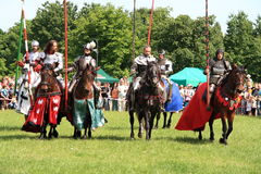 Knights on horseback Stock Photography