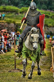 Knights on horseback compete in the tournament Royalty Free Stock Photography
