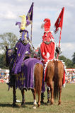 Knights on Horses. Waiting for joust stock photography
