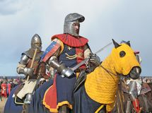 Knights on horses Royalty Free Stock Images