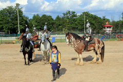 The  Knights on Horses Royalty Free Stock Images