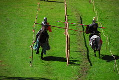 Knights on horses Royalty Free Stock Photos