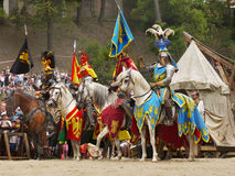 Knights on Horses stock image