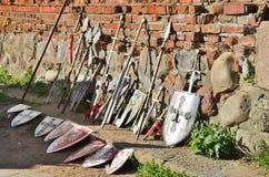 Knights i ricordi da Malbork in Polonia Fotografia Stock