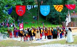 Knights il torneo in Debno Fotografia Stock