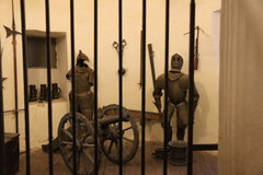 Knights in jail Stock Image