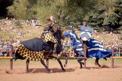 Knights Jousting Royalty Free Stock Image