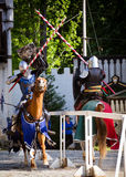 Knights jousting at Renaissance Festival Stock Photography
