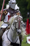 Knights jousting warwick castle England uk stock photography