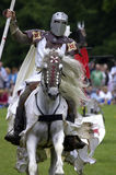 Knights jousting warwick castle England uk Stock Images