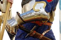 Knights la protezione della mano dell'armatura Fotografie Stock Libere da Diritti