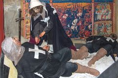 Knights of Malta. The Knights Hospitallers Exhibition at the Sacra Infermeria, the 16th-century hospital of the Order of St John, records the routine activities Royalty Free Stock Photography