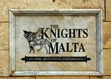 The Knights of Malta sign, Mdina. Stock Image