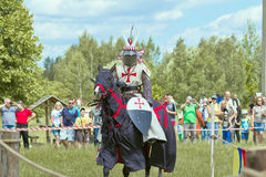 Knights. Minsk, Belarus - June 18, 2016: Festival The Age of chivalry - knights tournament Stock Image
