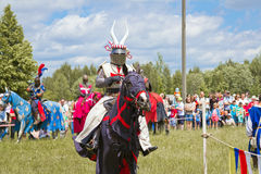 Knights. Minsk, Belarus - June 18, 2016: Festival The Age of chivalry - knights tournament Stock Photography