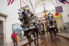 Knights at museum Stock Photos