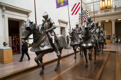 Knights at museum Royalty Free Stock Image
