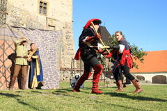 Knights - noblemen fighting Stock Photography