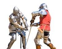 Knights o competiam foto de stock