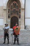 Knights in Old town in Zagreb, Croatia Royalty Free Stock Image