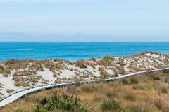 Knights Point lookout over seacoast wooden walkway royalty free stock images
