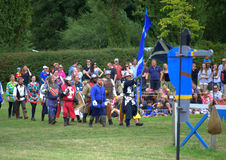 Knights procession Hever Castle England royalty free stock photography