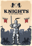 Knights Of Round Table Poster Royalty Free Stock Photo