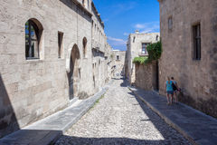 Knights Street Rhodes Greece Stock Images