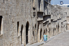 Knights Street Rhodes Greece Royalty Free Stock Image