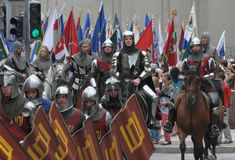 Knights in the streets Royalty Free Stock Photos