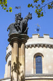 Knights Templar Statue at Temple Church in London Stock Photos