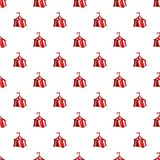 Knights tent pattern, cartoon style stock image