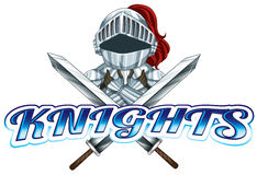 Knights. Theme for sport team Stock Photography