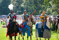 Knights tournament. In strzegom at HSBC FEI World Cup 2009 Royalty Free Stock Images