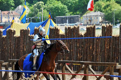 Knights tournament Stock Image