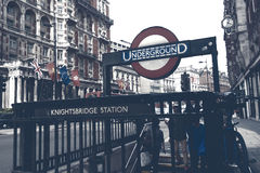 Knightsbridge Subway Station. Stock Photo