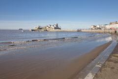 Knightstone island and beach, Weston Super Mare, Somerset Royalty Free Stock Images